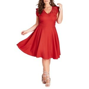 City Chic First Place Fit & Flare Dress.